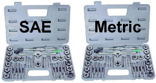 NEW 80 piece TAP AND DIE SET both SAE & METRIC + (Taps And Dies)