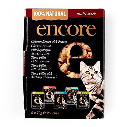 ENCORE Cat Pouch Multipack 6 x 70g (Pack of 4) by ENCORE