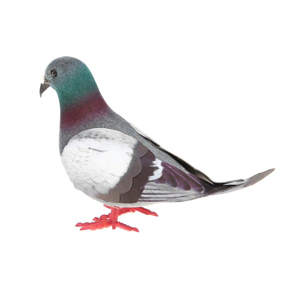 JUNERAIN Accessoires de Photographie de Jardin Pigeon Oiseau Mod/èle Simulation Animal Animal Artificiel Miniature Ornement Pigeon