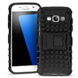 Samsung Galaxy J5 Outdoor Hülle Case in Schwarz Extra Schutz, Robuste Galaxy J5 Schutzhülle Handyhülle Cover Silikonhülle Rückschale