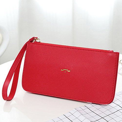 femme 2 YJUKBB0023 Pochette Red Red Jin pour Ya Rouge P0xfRqYtw