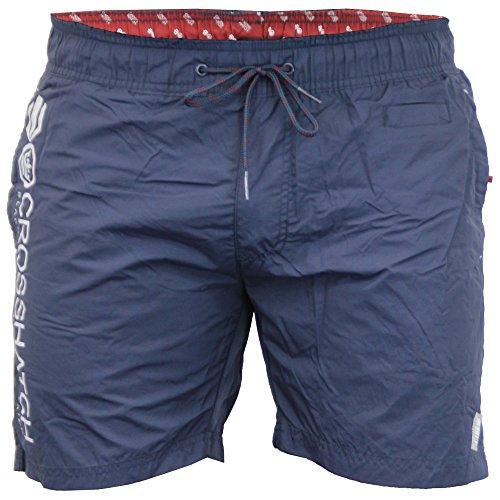 Herren Netzfutter Surfen Schwimmen Shorts Von Crosshatch - Marineblau - JENNIS, 2X Large