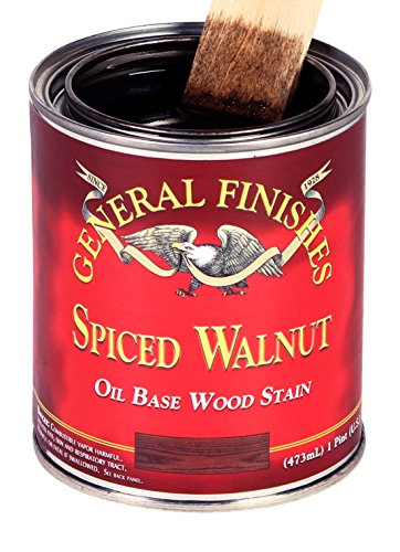 General Finishes SWQT Oil Based Penetrating Wood Stain, 1 Quart, Spiced Walnut
