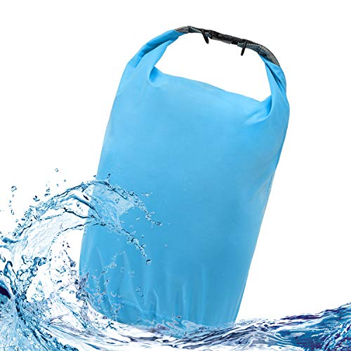 iOutdoor Products Dry Bag Waterproof 70L/40L/20L/10L/5L Lightweight Heavy Duty Dry Sack Waterproof Dry Bag for Kayaking, Rafting, Boating, Swimming, Camping, Hiking, Beach, Fishing (Blue, 20L)