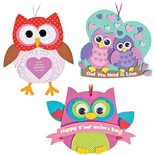 Valentine's Day Owl Ornament Craft Kit | Doily