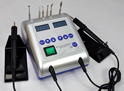 Zeta dental marca nuevo laboratorio El�ctrico Waxer cuchillo de trinchar de m�quina con doble punta 6 cera jt-21