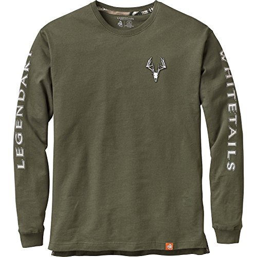 Legendary Whitetails Men's Non-Typical Series Long Sleeve T-Shirt Army (Army Long Sleeve Tee)