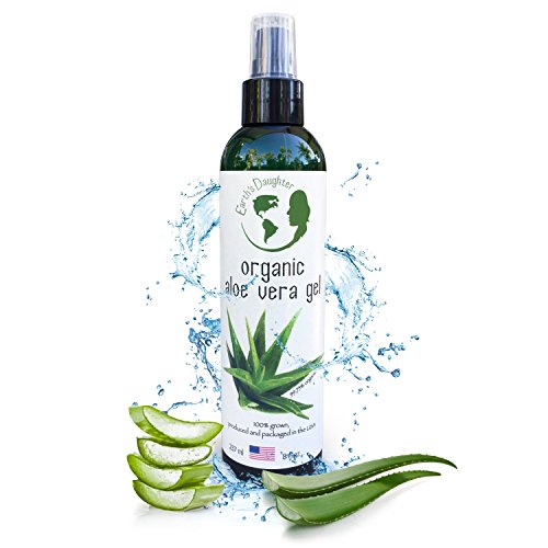 Earth's Daughter Organic Aloe Vera Gel From Pure and Organic Cold Pressed Aloe Vera, 8 fl. - Get Marks Scratch Of Rid