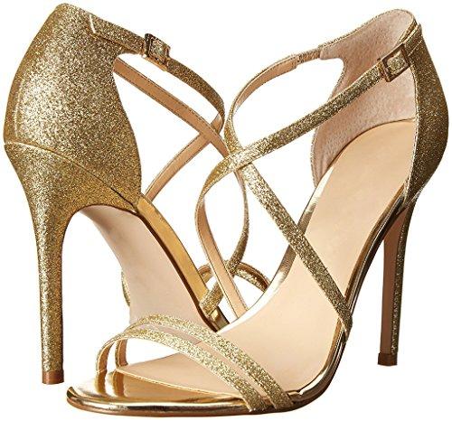 Sandal Sandals Buckle Crossing 12CM Glitter Summer Eldof High Open Gold Heel straps Shoes Womens Toe closure xqFIzU