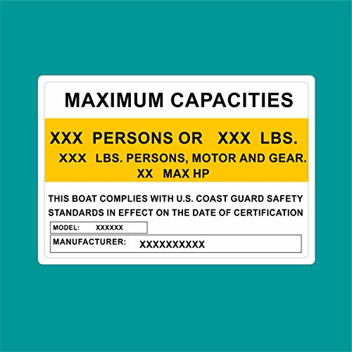 Custom Capacity Boats Outboards Decals Vinyl Stickers Boat Outboard Motor Lot of...