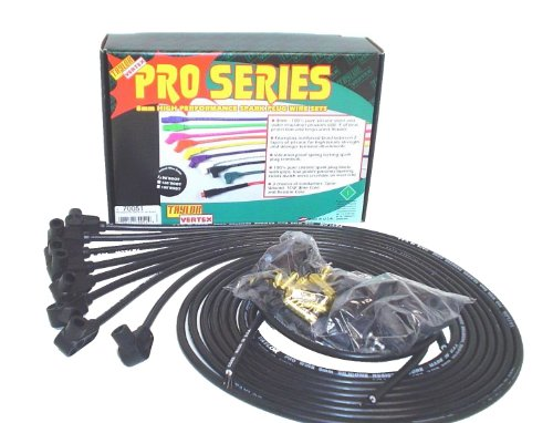 Taylor Cable 70051 8mm Pro Wire Black Spark Plug Wire Set