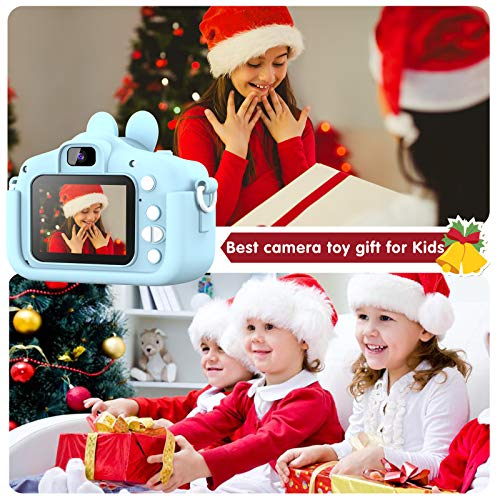 Kids Camera for Boys and Girls, 20.0 MP HD 1080P Digital Video Camera for Kids, Dual Camera 2.0 Inch IPS Screen Kids Camera with 32GB SD Card, Best Gifts Toys for Boys Girls Age 3-12 Years (Blue)