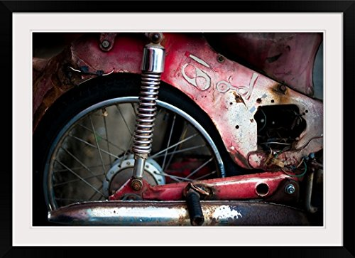 GreatBIGCanvas ''Erin Berzel Thai Motorbike'' Entitled Photographic Print with black Frame, 36'' X 24''''