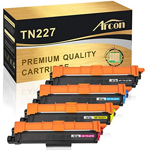 Arcon Compatible Toner Cartridge Replacement for Brother TN227 TN227BK TN223 TN 223 Brother MFC-L3770CDW MFC-L3710CDW MFC-L3750CDW HL-L3270CDW HL-L3290CDW HL-L3210CW HL-L3230CDW HL-L3230CDN-WITH CHIP