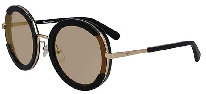 Amazon.com: Gafas de sol FERRAGAMO SF 164 S 001 NEGRO: Clothing