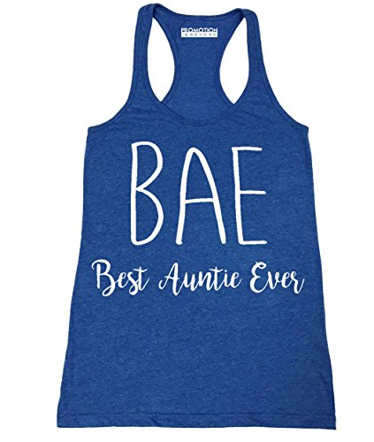 P&B BAE Best Auntie Ever Funny Women's Tank Top, 2XL, H. Royal