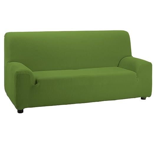 Jarrous Funda de Sofá Elástica Modelo Camden, Color Verde, Medida 3 Plazas – 180-240cm