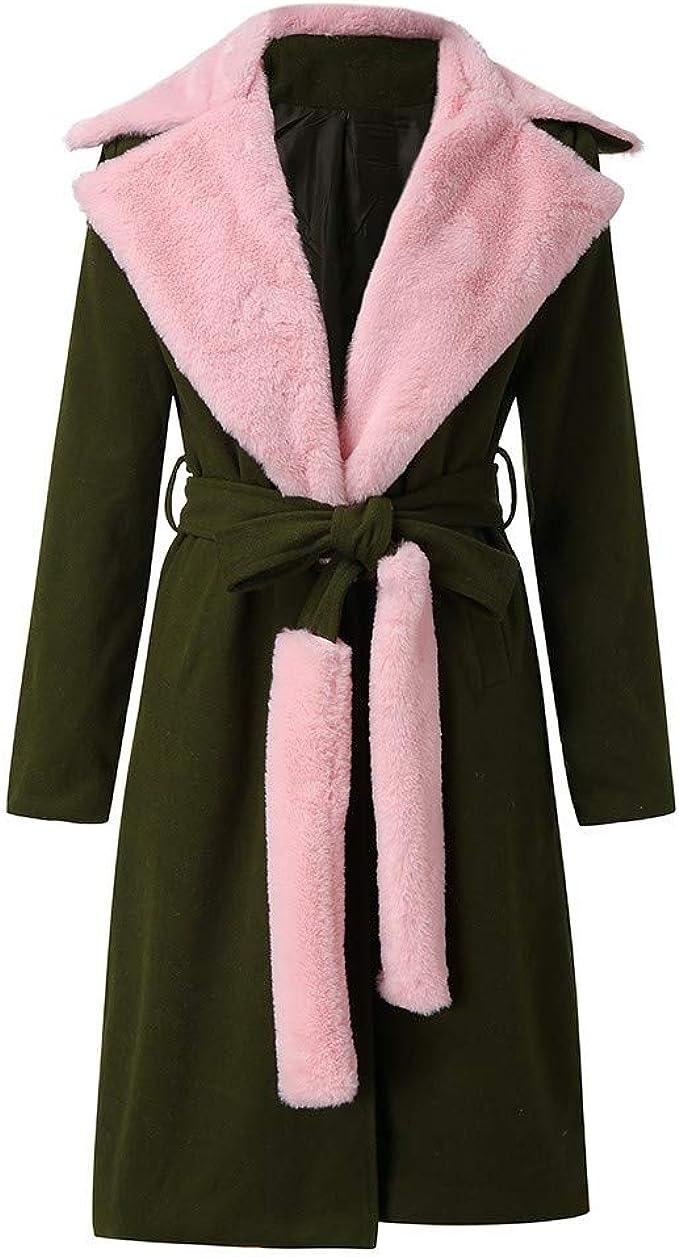 Cappotti Donna Lana Inverno Elegante Lungo Manica Lunga Classico Caldo Moda Addensare Giacca Risvolto Colletto Outwear Vintage ITISME Cappotto Donna