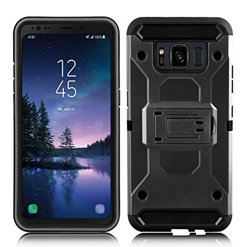 DONWELL Galaxy S8 Active Case New 2017 Hybrid Heavy Duty Shockproof Full Body Protective Armor Phone Cover with Kickstand Belt Clip Holster for Samsung SM-G892A 5.8""