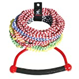 Kwik Tek Airhead 8-Section Ski Rope with Diamond Grip Handle, 75-Feet