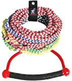 Airhead Water Ski Rope with Diamond Grip Handle, 8 Section (75')