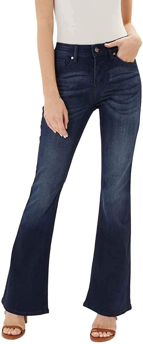 Kan Can Women S Mid Rise Flare Hem Jeans At Amazon Women S Jeans Store