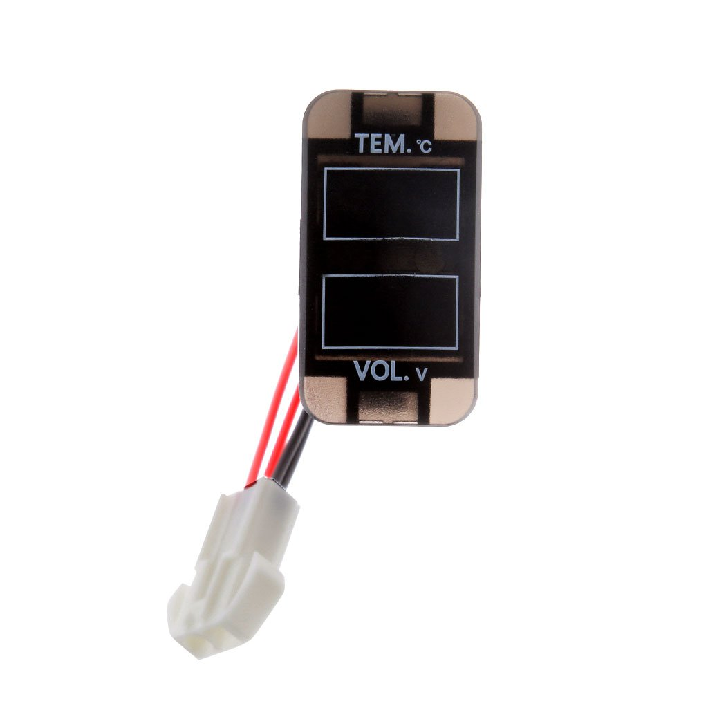 Term/ómetro Mult/ímetro De Voltaje De Medidor De Voltaje LED Doble Para Toyota Prado 150 Landcruiser 200 RAV4