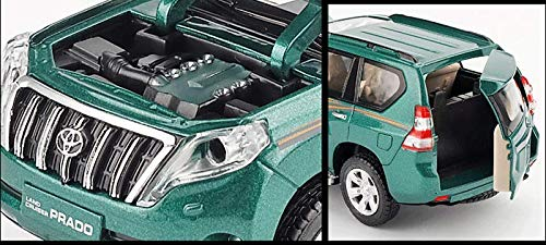 GYZS-TOY Toyota Land Cruiser Prado Alloy Modelo de Coche 1:32 Pullback SUV Modelo de Coche de Juguete para niños (Color : Blanco): Amazon.es: Hogar