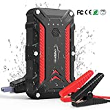YABER Car Battery Jump Starter (Up to 7.5L Gas or 6.0L Diesel) 1200A 15000mAh 12V Portable Car Battery Charger Jump Starter IP68 Waterproof Battery Jumper Starter with QC 3.0 USB Ports,LED Flashlight