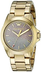 Juicy Couture Women's 1901285 Malibu Analog Display Quartz Gold Watch
