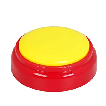 Cover Recordable Talking Button Sound Button Answer Buzzer Yellow and Red