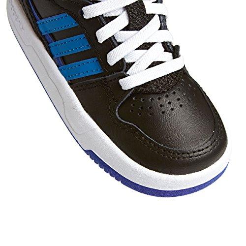 Adidas Originals COURT ATTITUDE EI I Scarpe Sneakers Pelle Nero Blu per Bambini