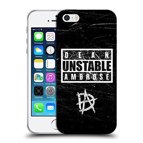 Officiel Wwe Signe Instable Dean Ambrose Étui Coque en Gel molle pour Apple iPhone 5 / 5s / SE