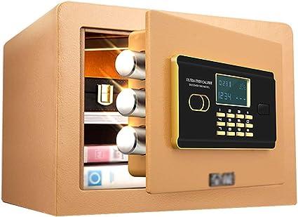 25 cm impronte digitali e password//chiave aperta contemporaneamente per casa 25 cm//30 cm ingresso al muro o armadio ufficio ZLQ Cassaforte Cassaforte