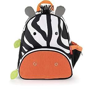 "Toddler Backpack, 12"" Zebra School Bag, Multi"