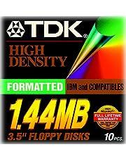 TDK 3.5In 1.44MB Pre-Fmt IBM Black Diskettes 10-Pack