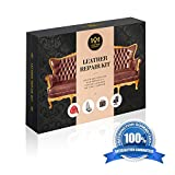 Leather Repair Kit | Restorer of Couch , Furniture, Car Seats | For black, brown, white, grey (also any bonded leather or vinyl) | Recoloring and touch up | by Leather Legacy