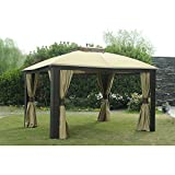 gazebo curtains replacement Sunjoy Replacement Curtain for 10x12ft Riviera Resin Gazebo