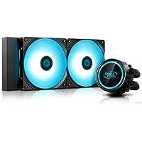 DeepCool Gammaxx L240 RGB V2 system chłodzenia Anti-Leak 240 mm ciekły radiator RGB 12 V 4-pinowy kompatybilny z Intel…