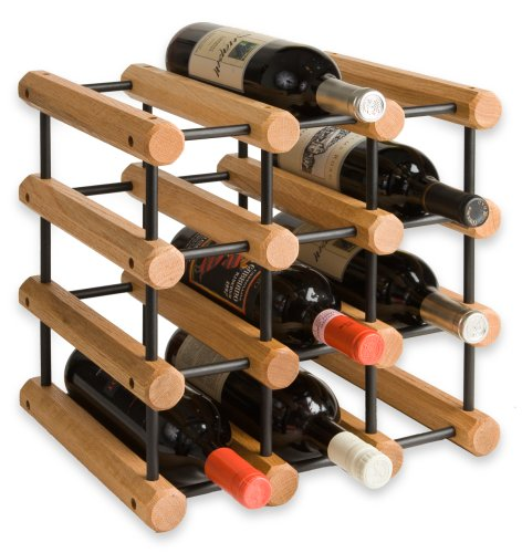 Buy wooden mallet 12-bottles solid oak wine rack