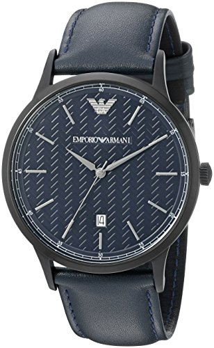 Emporio Armani Men's AR2479 Dress Black Leather Watch