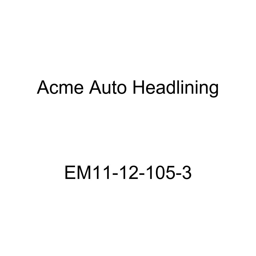 Acme Auto Headlining EM11-12-105-3 Medium Blue Replacement Headliner 1931 Buick Series 50, 60, 80, and 90 4 Door Sedan - 3 Bow