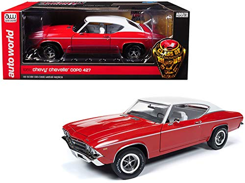 American Muscle AMM1169 1969 Chevrolet Chevelle Hardtop (Class of 1969) Garnet Red Diecast Model Car 1:18 ()