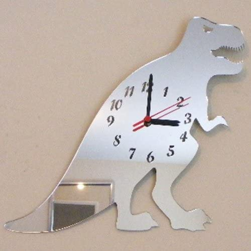 Super Cool Creations T-Rex Dinosaur Clock Mirror 35cm x 35cm