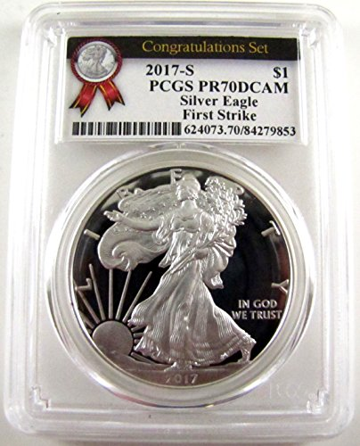2017 S Proof Silver Eagle Congratulations Set First Strike $1 PR-70 PCGS