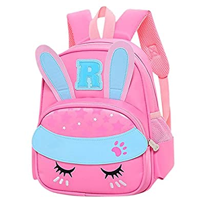 KINGSEVEN Kids Girls Pink Rabbit Cartoon School Backpack Bookbag Travel Bag 85%OFF