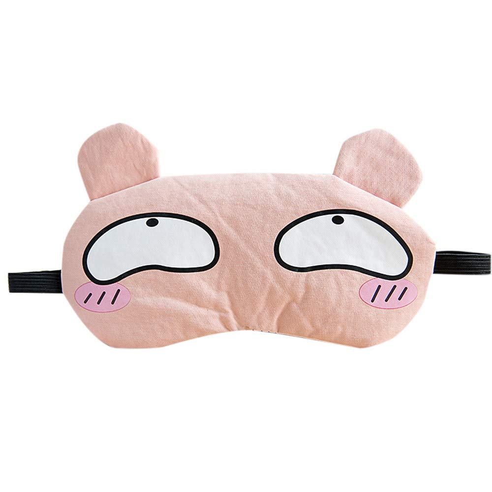 New Cartoon Ice Bag Sleep Mask Eye Relax Cover Travel Aid Rest (Pink)