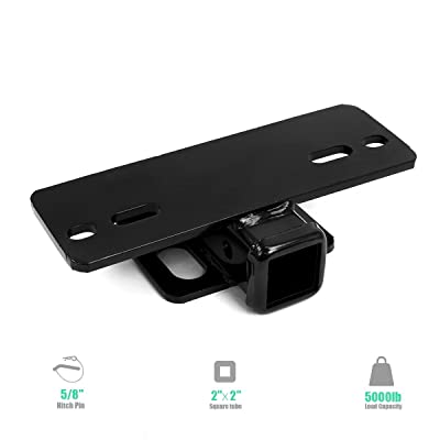 5000lbs Step Bumper Mount,Tow Hitch Receiver Bumper Mounted Trailer Truck