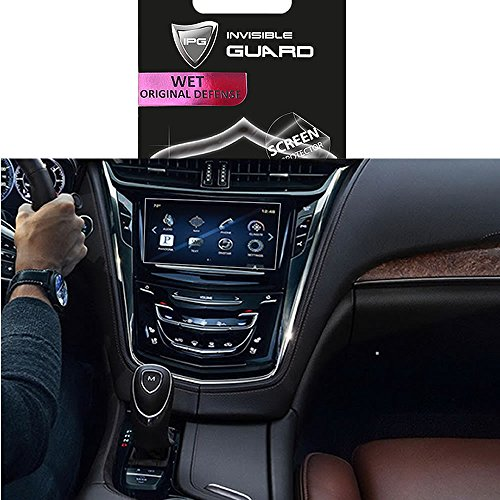 for Cadillac XTS8 CUE Touch 2014-2017 Navigation Touch Screen Sensitive Protector Invisible Ultra HD Clear Film Anti Scratch Skin Guard - Smooth/Self-Healing/Bubble -Free by IPG