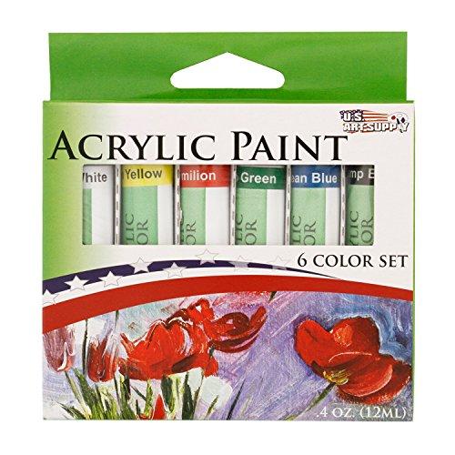 US Art Supply Acrylic 6 Tubes